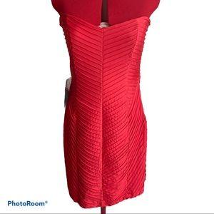 BeBe Coral Color Bodycon Dress Sz L